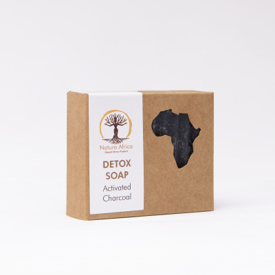 Natura Africa Facial Soap - Detox (oily skin) with Kalahari Melon Oil and Activated Charcoal Cover