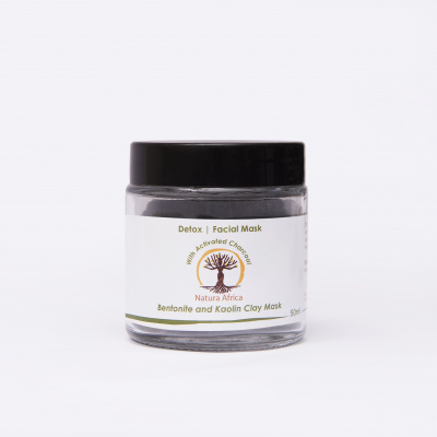 Natura Africa Facial Mask - Detox (oily skin) with Activated Charcoal Cover